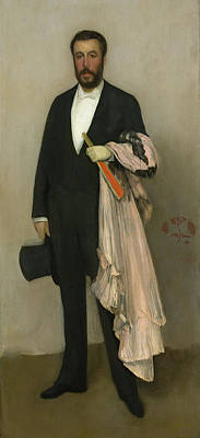 Whistler Painting - Arrangement In Flesh Colour And Black - Portrait Of Theodore Dure by James Abbott McNeill Whistler