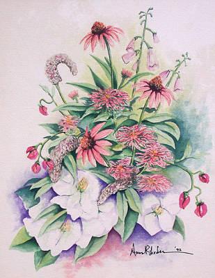Arrangement In Pink Art Print by Anne Rhodes