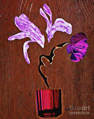 Mixed Media - Arrangement In Purple by Sarah Loft