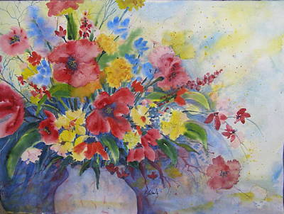 Painting - Arrangement In Red And Yellow by Laurie Salmela