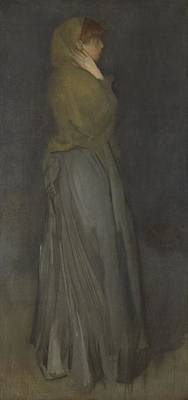 Painting - Arrangement In Yellow And Gray Effie Deans James Abbott Mcneill Whistler C 1876  C 1878 by R Muirhead Art