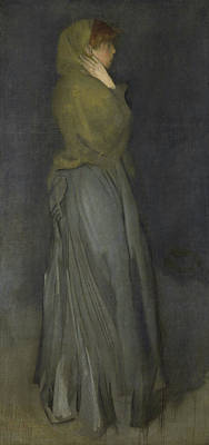 James Abbott Mcneill Whistler Painting - Arrangement In Yellow And Gray - Effie Deans by James Abbott McNeill Whistler