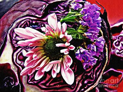 Photograph - Arrangement On Cabbage by Sarah Loft