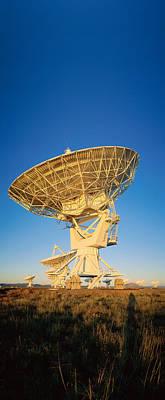 Arraysatellite Dish Aimed Towards Sky Art Print