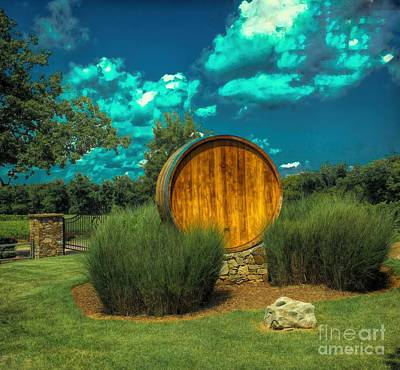 Photograph - Arrington Vineyards Barrel by Luther Fine Art