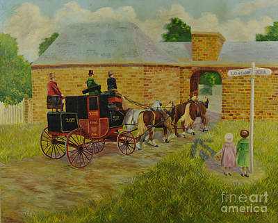 Carriage Driving Painting - Arrival by Charlotte Blanchard