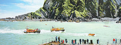 Arrival Of Ilfracombe's New Shannon Class Lifeboat Original
