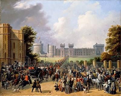 Arrival Of King Louis Art Print