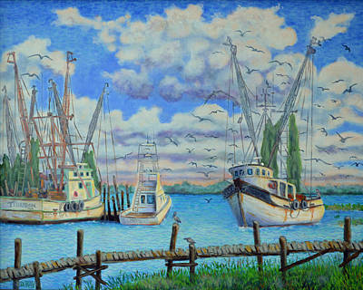 Painting - Arrival Of The Lady Eva On Shem Creek by Dwain Ray