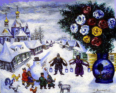 Roussimoff Wall Art - Painting - Arrival Of Winter by Ari Roussimoff