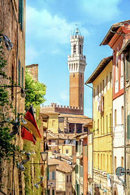 Painting - Arriving In Siena by Delphimages Photo Creations