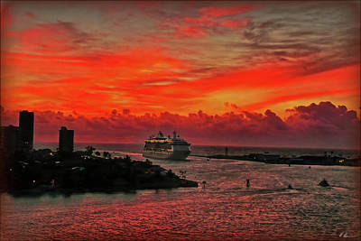 Photograph - Arriving Port Everglades by Hanny Heim