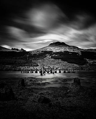 Photograph - Arrochar Pier, Argyll, Scotland by Alex Saunders