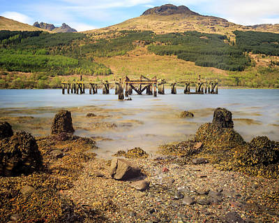Photograph - Arrochar Pier Landscape by Alex Saunders
