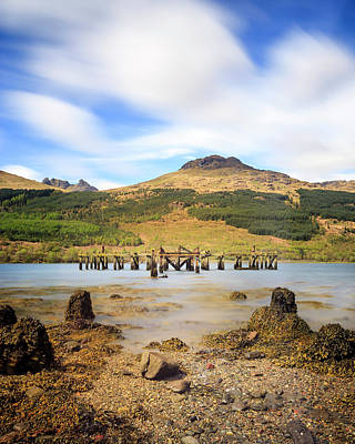 Photograph - Arrochar Pier Portrait by Alex Saunders