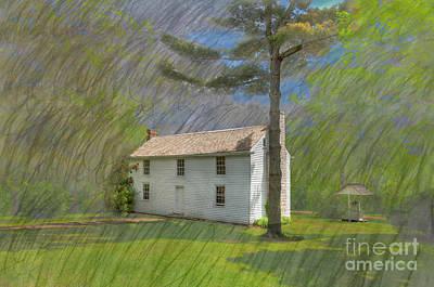 Log Cabin Art Photograph - Academy Boarding House by Larry Braun