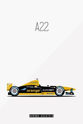 Arrows Asiatech A22 F1 Poster Art Print
