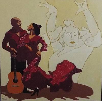 Paco Painting - Arroyo Flamenco  by Paul Batou