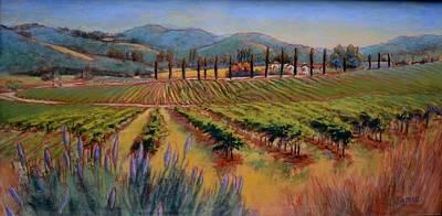 Lynee Sapere Wall Art - Painting - Arroyo Grande Vineyard by Lynee Sapere