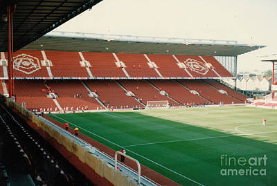 Dennis Bergkamp Photograph - Arsenal - Highbury - North Bank 4 - 1996 by Legendary Football Grounds