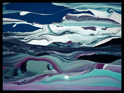 Art Print featuring the painting Art Abstract by Sheila Mcdonald