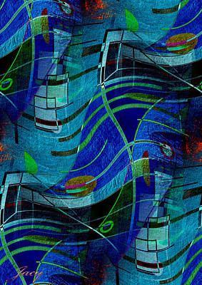 Art Print featuring the digital art Art Abstract With Culture by Sheila Mcdonald