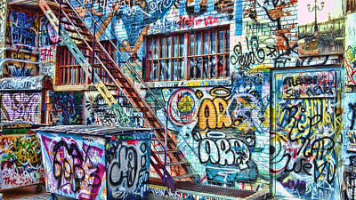 Dumpster Photograph - Art Alley 2 by Adam Vance