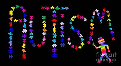 Digital Art - Art And Autism by Nick Gustafson
