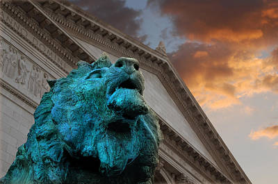 Art And Lions Print by Anthony Citro