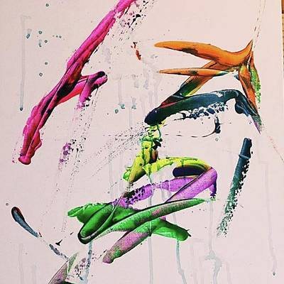 Pink Painting - Smeared by T Prosper Harris