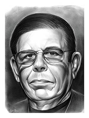 Drawing - Art Bell by Greg Joens