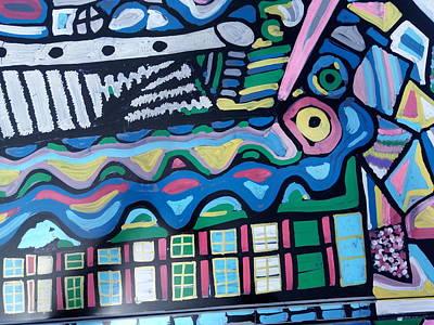 Painting - Art Car - Bradley's Roofline 01 by Mudiama Kammoh