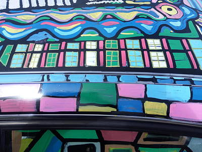 Painting - Art Car - Bradley's Roofline - 02 by Mudiama Kammoh