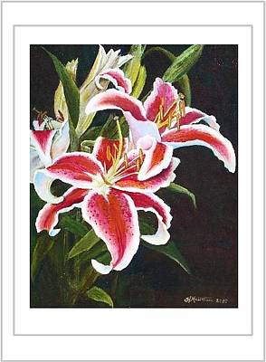 Painting - Art Card - Lilli's Stargazers by Harriett Masterson