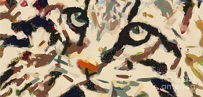 Painting - Art Cat Veggielicous by Catherine Lott