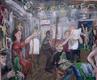 Painting - Art Class by Barbara Yalof