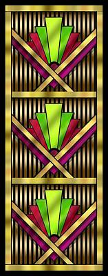 Digital Art - Art Deco 13 Tiles by Chuck Staley