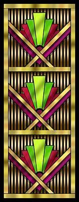 Digital Art - Art Deco 13 Tiles by Chuck Staley