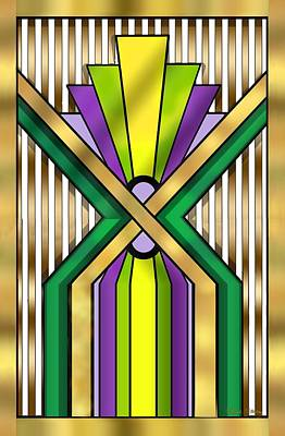 Digital Art - Art Deco 14 B Transparent by Chuck Staley