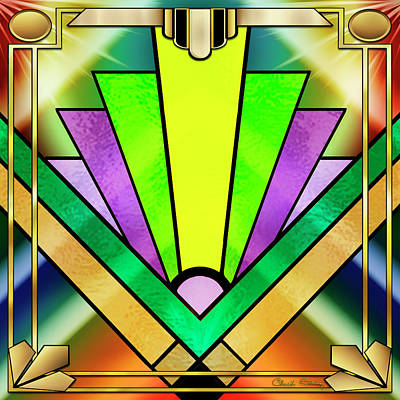 Digital Art - Art Deco Chevron 3 by Chuck Staley