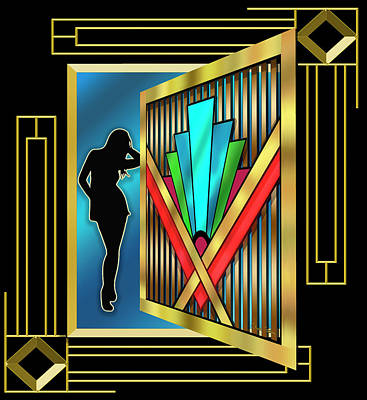Digital Art - Art Deco 15 3 D by Chuck Staley