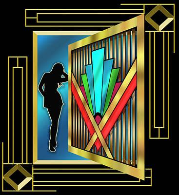 Digital Art - Art Deco 15 3 D by Chuck Staley