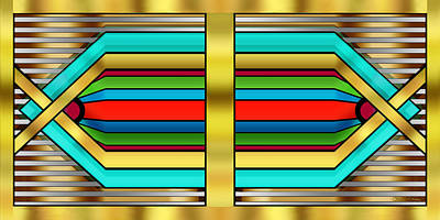 Digital Art - Art Deco 17 Horizontal by Chuck Staley