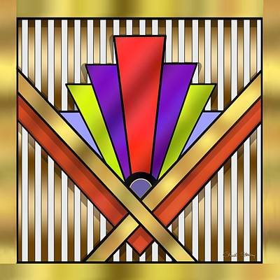 Digital Art - Art Deco 16 Transparent by Chuck Staley