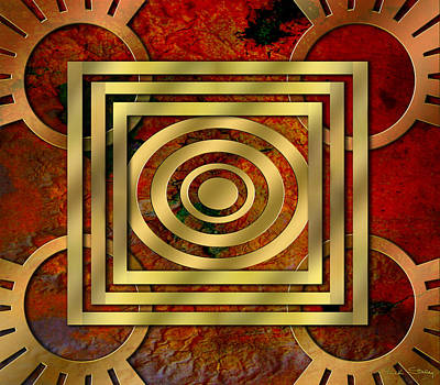 Handcrafted Digital Art - Art Deco 22 by Chuck Staley