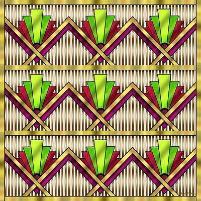 Digital Art - Art Deco Multiview 18  by Chuck Staley