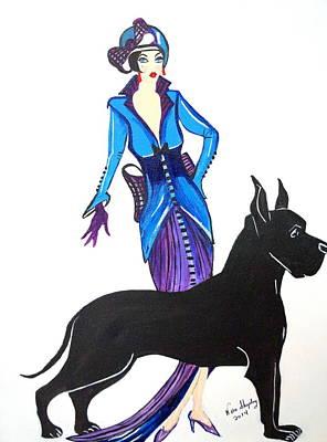 Art Deco 1920's Myra Art Print