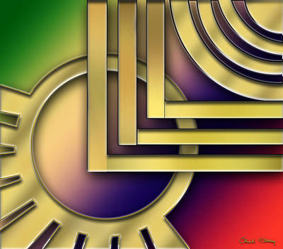 Digital Art - Art Deco 25 by Chuck Staley
