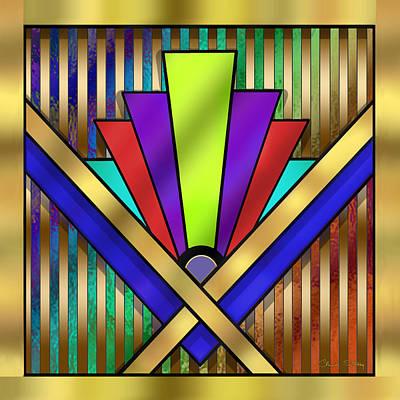 Digital Art - Art Deco 23 by Chuck Staley