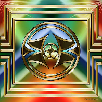 Digital Art - Art Deco 31 by Chuck Staley